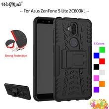 For Cover Asus Zenfone 5 Lite ZC600KL Case TPU & PC Armor Holder Bumper Phone Case For Asus Zenfone 5 Lite ZC600KL Cover 6'' аксессуар чехол asus zenfone 5 lite zc600kl 6 zibelino ultra thin case white zutc asu zc600kl wh page 5