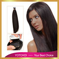 """Yotchoi PU cinta extensiones de cabello de color marrón oscuro 2 #18 """"-24"""" dibujado doble del pelo recto 100% remy extensiones de cabello humano"""