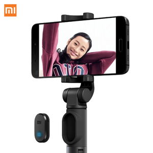 Image 3 - 100%Original xiaomi Handheld Mini Tripod 3 in 1 Self portrait Monopod Phone Selfie Stick Bluetooth Wireless Remote Shutter Black