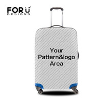 FORUDESIGNS Travel Luggage Protective Covers Customize Your Own Image Thick Elastic Suitcase Cover S M L