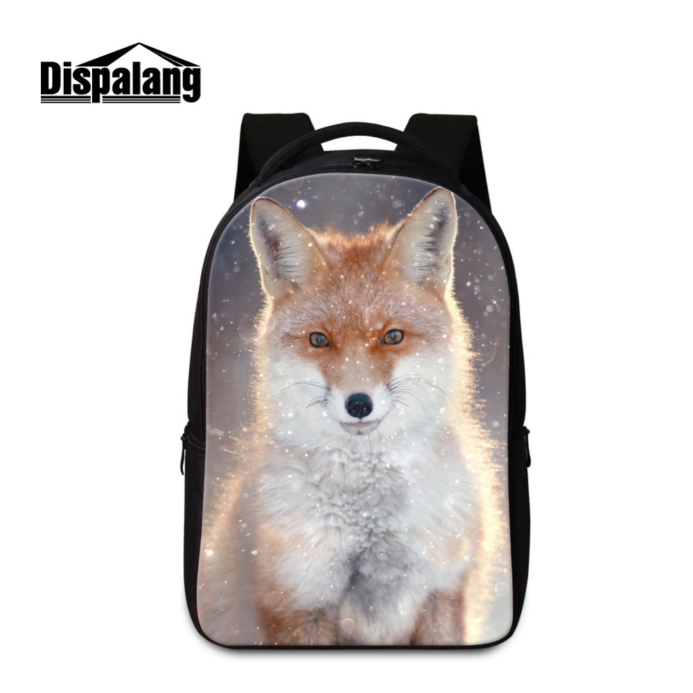 Cool Fox Printed Laptop Backpacks for Children Teen Boys School Bookbags Big Back Pack for Teenagers Fashion Animal Mochila girl