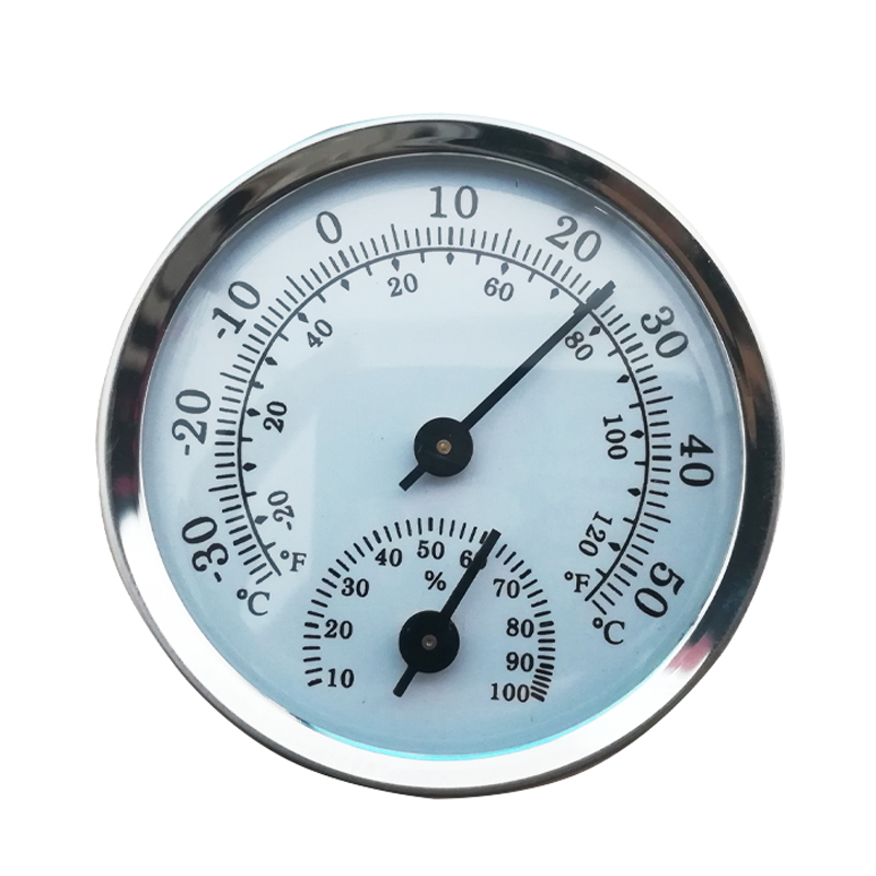 Swimming Pool Thermometer Mini 58 mm Car Thermometer Mechanical Analogue Temperature Gauge with Paste Sticker Aisumi