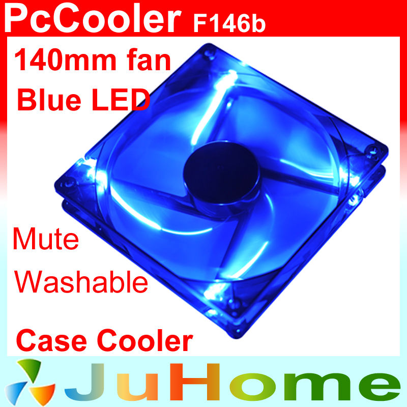 140mm, 14cm fan with blue LED light, cooling fan, Washable, for power supply, for computer Case cooler, PcCooler F146b realan tower case computer for body computer w60 with usb and 12v5a power supply