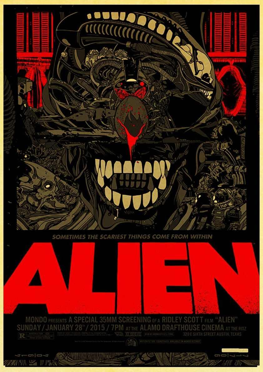 בית אמנות Alien סרט רטרו פוסטר הדפסים באיכות גבוהה קיר מדבקות לסלון חדר עיצוב הבית