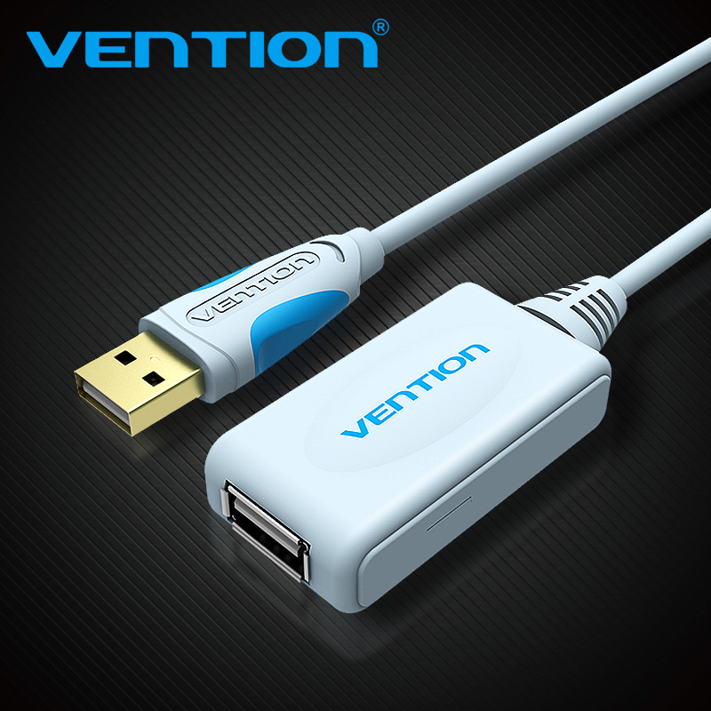 Vention USB 2.0 Extension Cable With Amplifier 5m 10m Cable 15FT USB Male to Type A Female USB Cable For PC Mouse U Disk Webcam [sa]use for u s ni gpib usb a connection cable see figure below only the cable used