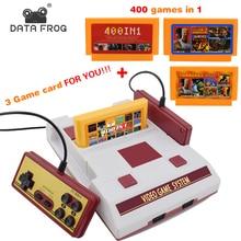 Данных лягушка ретро двойной контроллер 8 бит ТВ игровая консоль для FC классические игры семья ТВ видео игры Встроенный 500 + игры