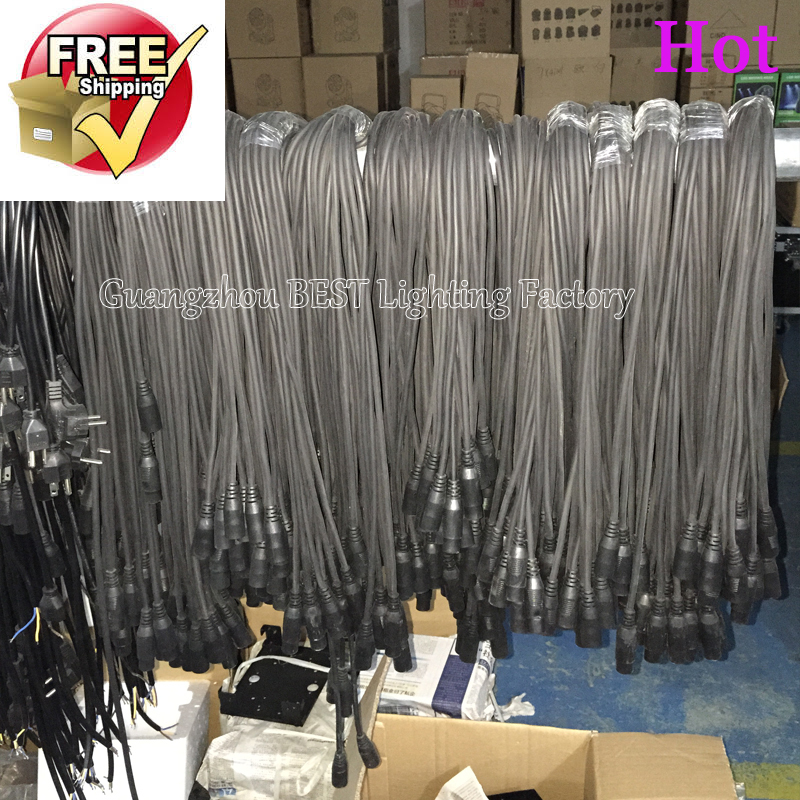 4pcs/lot Cables Of Dmx Cable 5mx 4pcs Dmx 3 Pin Cord Power Cable For Stage Lighting Usage Total Length 20meters