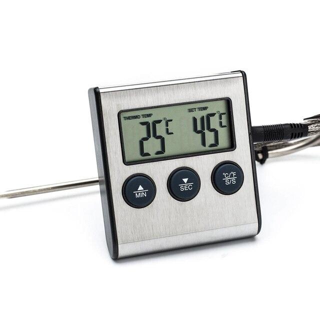 horno termmetro de cocina digital que cocina el termmetro de carne de barbacoa para asar alimentos