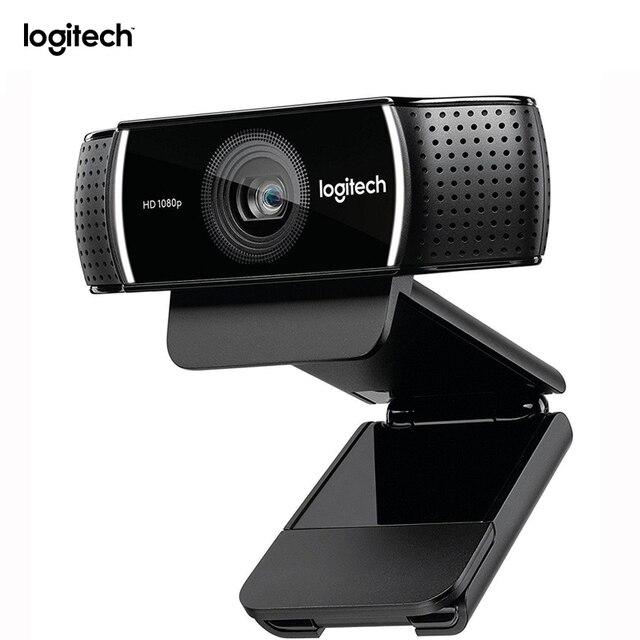 Caméra Web Logitech C922 dorigine Webcam Pro Stream avec Microphone Full HD 1080P vidéo Auto Focus Web cam 14MP C920 mise à niveau