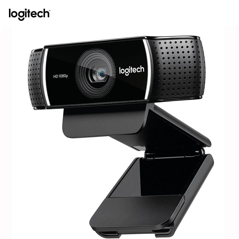 Originale Logitech C922 Web Camera Pro Flusso Webcam Con Microfono Full HD 1080 P Video di Messa A Fuoco Automatica Web cam 14MP-C920 aggiornamento