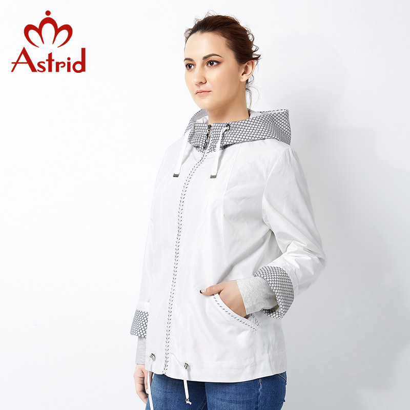 Astrid 2019 New   Trench   Coat for Women Spring lady Coat female   Trench   Plus Size Fashion Windbreaker solid Big Size AS-2518