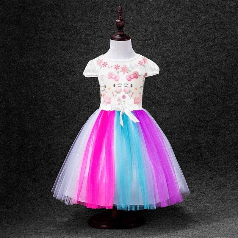 2018 Sommerkleid Neue Regenbogen Moana Mädchen Kleid Bunte Hallo - Kinderkleidung - Foto 3