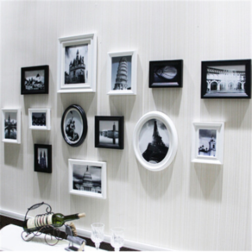 For Home Decorative Carving Photo Frame Set Wood Picture New Multi