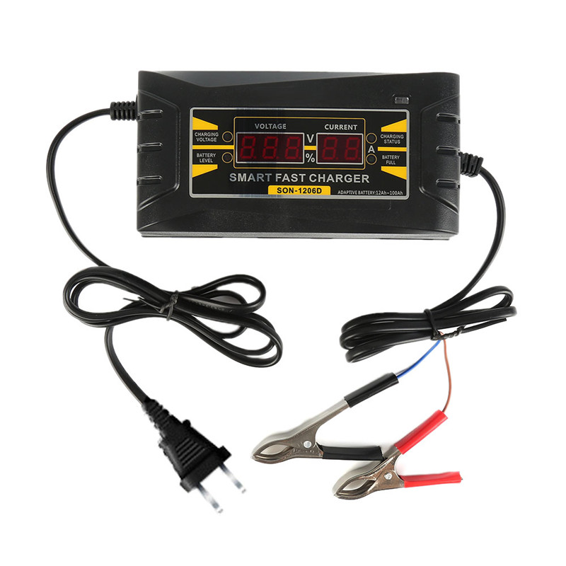 New Full Automatic Car Battery Charger 110V to 220V 6A 12V Intelligent Fast Power Charging Wet Dry Lead Acid Digital LCD Display full automatic 12v 10a car battery charger 110v to 220v intelligent fast power charging wet dry lead acid with lcd display