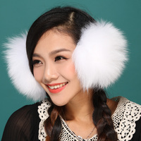 Fall Winter Tshow Lady Women Keep Ear Warm Fashion Lovely Korea Style Real Fur Fox