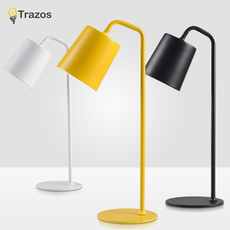 TRAZOS Modern Table Lamp color Iron Lampshade LED Lamparas de mesa Metal Desk Light E27 Hotel Lighting Deco Luminaria de mesa trazos modern table lamp color iron lampshade led lamparas de mesa metal desk light e27 hotel lighting deco luminaria de mesa