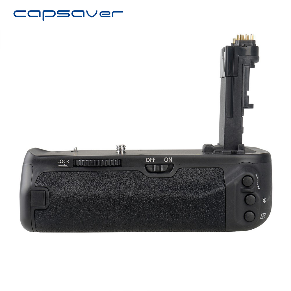 capsaver Vertical Battery Grip for Canon EOS 6D Mark II 6D2 6DII DSLR Camera Replacement BG-E21 Battery Holder Work with LP-E6 camera battery grip pixel bg e20 for canon eos 5d mark iv dslr cameras batteries e20 lp e6 lp e6n replacement for canon bg e20