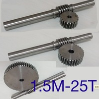 1.5M 25T Gear d:42mm 45 steel Precision worm gear transmission gear rod L:230MM D:18MM