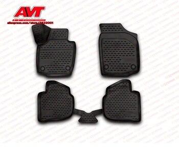 Alfombrillas para Skoda Rapid 2013-4 Uds alfombras de goma antideslizantes accesorios de estilo de coche interior
