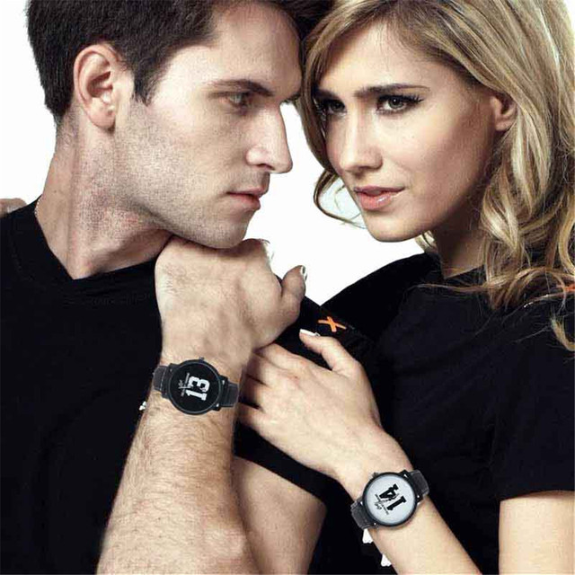 Couple Watches Fashion 1PC Lovers Analog Large Dial Sports Leather Strap Quartz