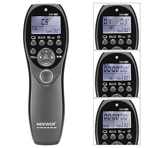 Neewer Shutter Release Wired Timer Remote Control NW-880/DC2 For Nikon D7100/D7000/D5300/D5100/D5000/D3300/D3200/D3100/D610/D600 wired remote shutter release for nikon d80 d70s 98cm length
