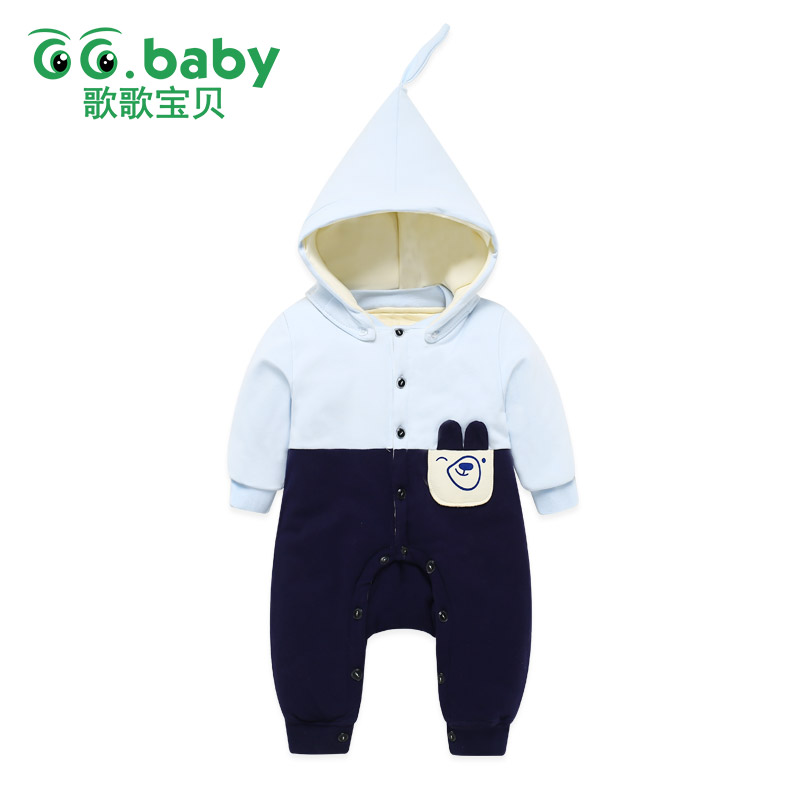 Hooded Christmas Romper For Baby Boys Newborn Winter Warm Overalls Baby Boy Clothes Romper Jumpsuit Long Sleeve Girl Clothing фанатская атрибутика nike curry nba