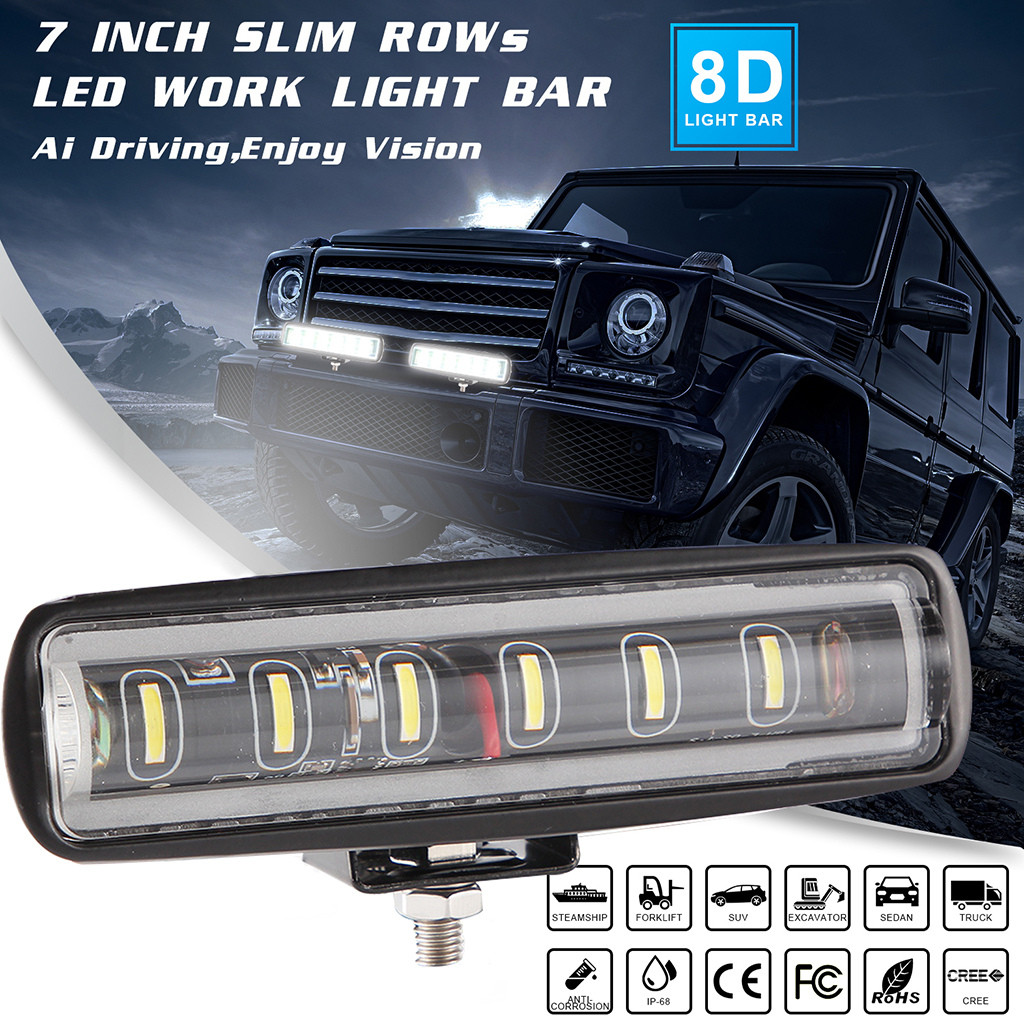 2x 12inch 168W CREE LED Light Bar Flood Spot Offroad ATV 4WD Driving UTE SUV 12V