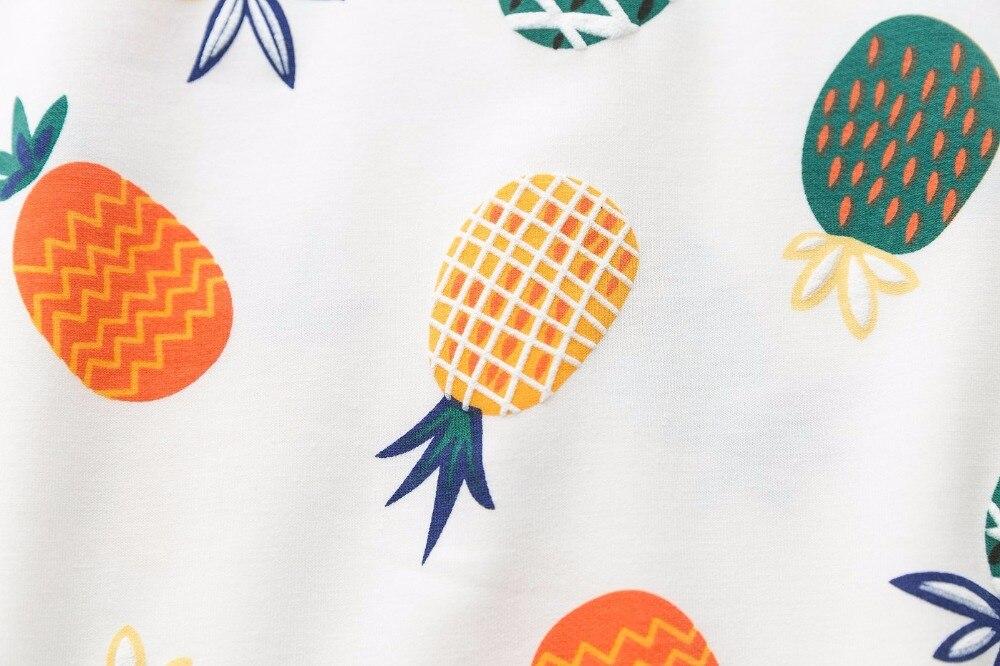 JKKUCOCO nouveau femmes sweat couleurs ananas sweats à capuche imprimés manches chauve-souris lâche pulls décontractés o-cou pulls S M L - 4