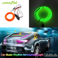 10 Colors Flexible Car Music Rhythm Atmosphere Strip Light Car Styling EL Wire Light Sound Activated
