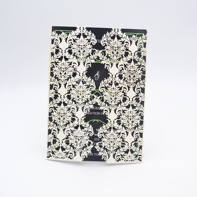 Folding Type New Design Luxury Romantic Customize Envelope Islamic