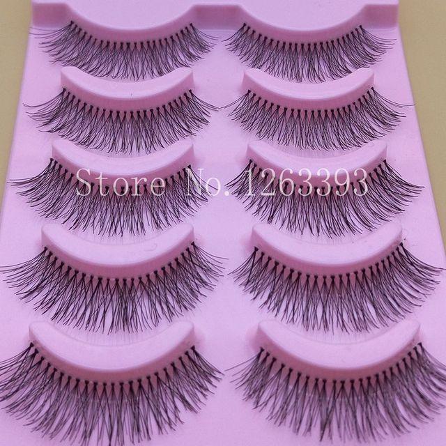 Escassa Cruz Natural Eye Makeup Lashes Extensão Terrier Cílios Postiços Naturais Longos Cílios Postiços Grossas de Algodão Branco