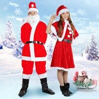 2017 New Fashion Adult Santa Costume Christmas Men Show Dress Women Models Costumes Costume Suits Free
