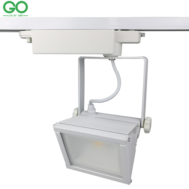 LED Track Lights 30W COB Moving Head Kitchen Ceiling Global Industrial Rail Light Spotlights Shoes Clothes Store Shop Lighting