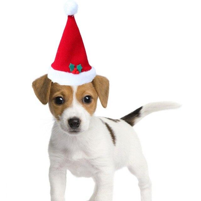 09d15a71d71e1 1PCS X Christmas Pet Santa Hat Plush Dogs Cats Soft Holiday Costume Apparel  Accessories