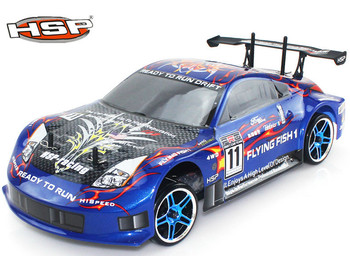 HSP 94123 Baja rc Drift Car 1/10 4wd On Road Racing Brushless or brushes Car FlyingFish High Speed Hobby Models p1 image