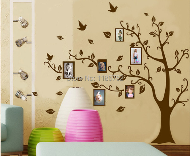 Large Size Family Photo Frame Tree Wall Stickers For Home Decor ...