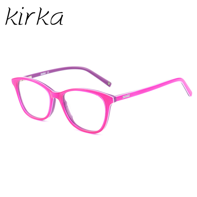 67598acd5ca23 Girls Cute Design Acetate Kids Glasses Frame Square Kids Eyewear Myopia Optical  Eyeglass Frames for Children