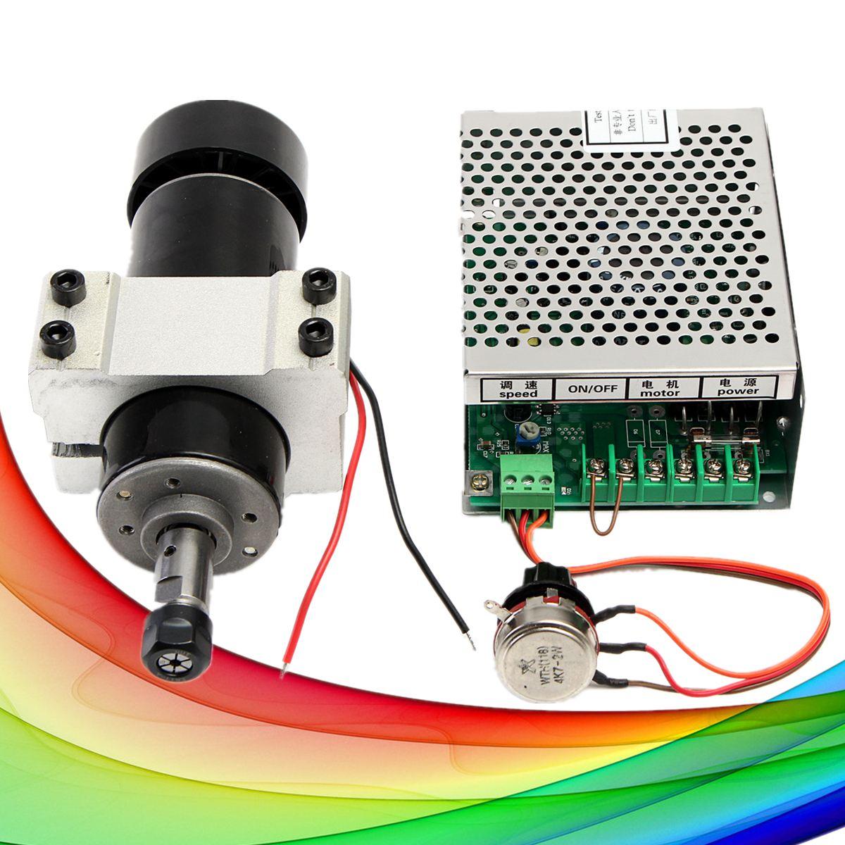 1 ensemble CNC broche 500 W refroidi par Air 0.5kw moteur de fraisage avec convertisseur de puissance de vitesse de broche