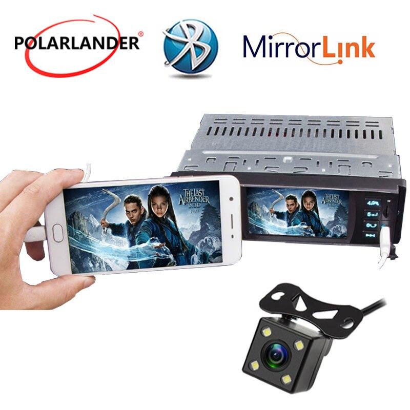1 din Bluetooth autoradio android écran de téléphone miroir 4 pouces HD stéréo avec caméra arrière USB/SD/FM MP5 lecteur écran