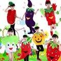 Meninos Meninas Festival Desempenho Crianças Traje Dancewear Outfit Legumes Fruta Dos Desenhos Animados do Dia das Crianças Dia Das Bruxas Cosplay Roupas