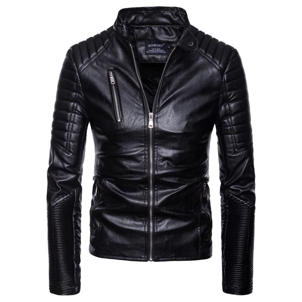 Nouveau automne cuir synthétique polyuréthane pour hommes Jaket pour hommes Fitness mode mâle daim Jaket Casaco Masculino manteau décontracté