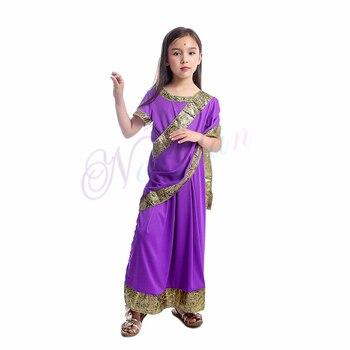 الهندي ساري حزب الهند ساري اللباس بوليوود الفتيات الملابس الهندية التقليدية للأطفال الأطفال 2