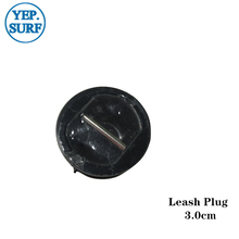 Leash Plug Black 3.0 cm Plastic Surfboard leash Plugs 10pcs per set
