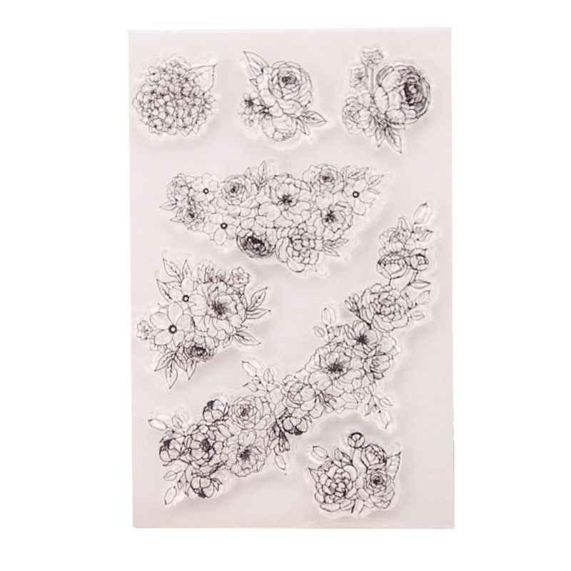 Daun Silicone Bening Stempel Segel Diy Scrapbooking Embossing Photo Album Dekoratif Kartu Kertas Kerajinan Seni Buatan Tangan Hadiah