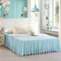 Girl's Lace decoration cotton bed skirt cotton lace bedspread many size many colors can chooce