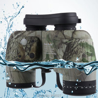 Waterproof Fogproof Binoculars Boshile 10x50 Navy Telescopio With Rangefinder Compass Reticle Illuminant Night Vision Telescope
