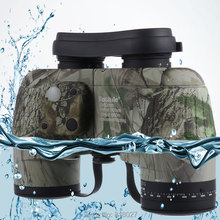 Big sale Waterproof fogproof Binoculars Boshile 10×50 Navy telescopio with rangefinder Compass Reticle Illuminant night vision Telescope