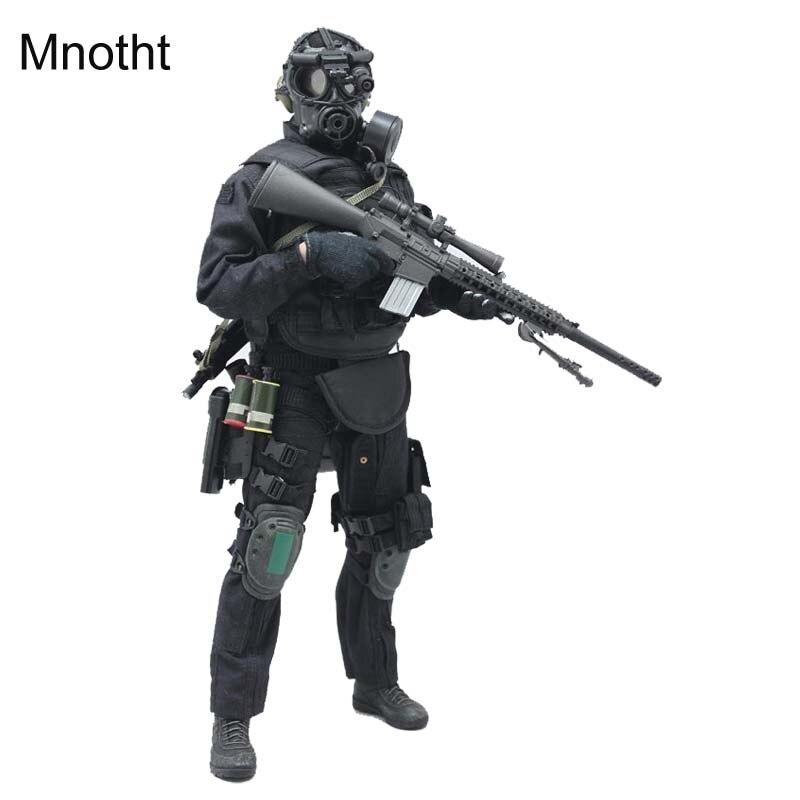 Mnotht 1/6 Mâle Solider SWAT Sniper Costume Ensemble Vêtements Militaire arme Pour 12in Action Figure Jouet l30 collection modèle cadeau