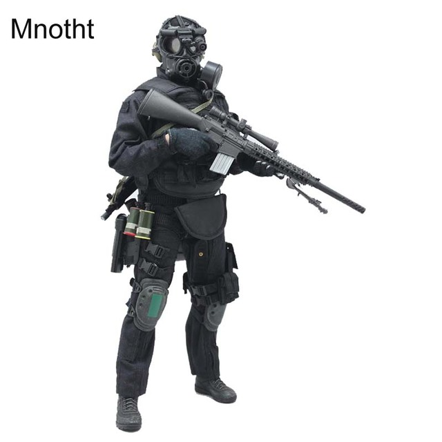 Mnotht 1/6 soldado SWAT Sniper fijado ropa arma militar para 12in ...