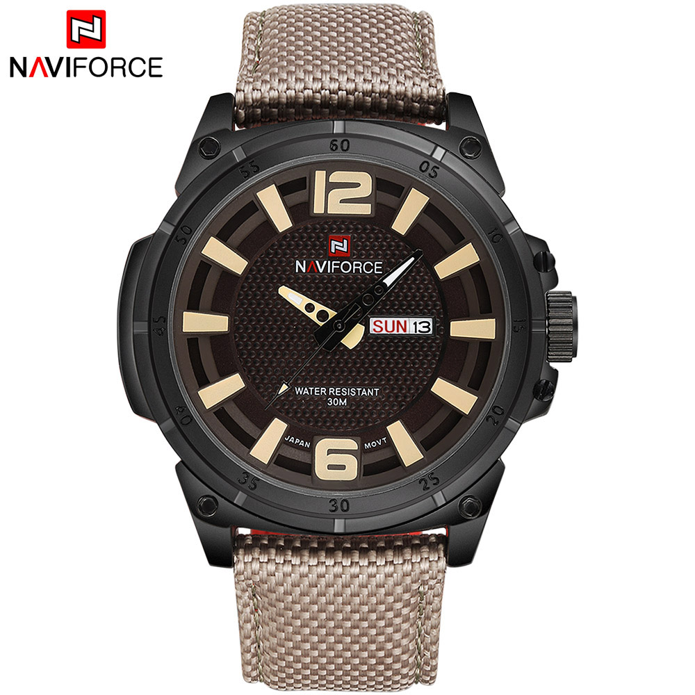 NAVIFORCE Brand Luxury Men Fashion Casual Watches Mens Quartz Date Clock Man Leather Waterproof Wrist watch Relogio Masculino 2018 new fashion casual naviforce brand waterproof quartz watch men military leather sports watches man clock relogio masculino